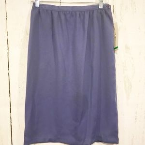 Alfred Dunner 10 Petite Periwinkle Skirt 2 Pockets